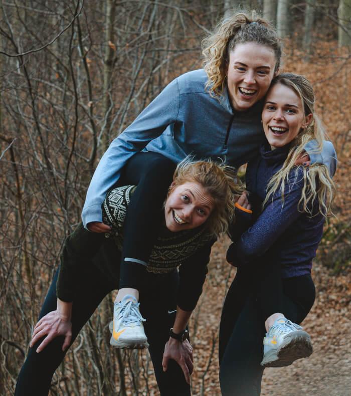 gåtur 100 km - omGANG - Anna - Anne - Emilie