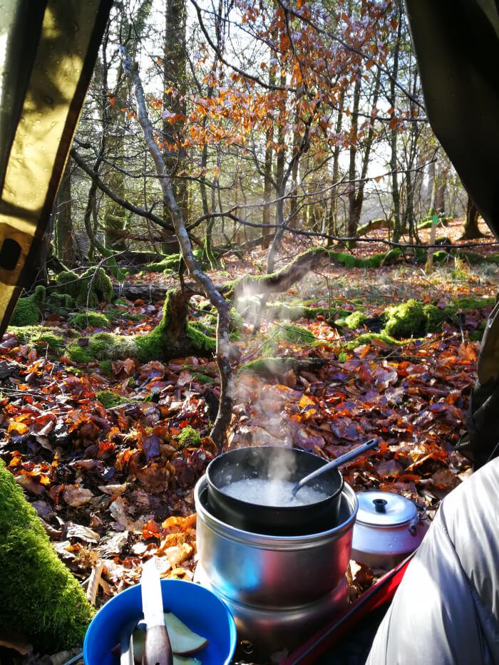 Morgenmad i Urskoven